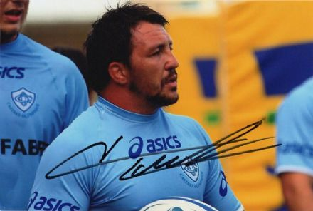 Brice Mach, France, Castres, signed 6x4 inch photo.